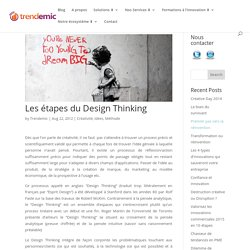 Les étapes du Design Thinking