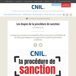 Les étapes de la procédure de sanction