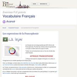 Les expressions de la Francophonie - Expert