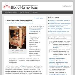 Les Fab Lab en bibliothèques
