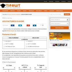LES FACTURES D'AVOIR - Tifawt