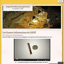 Les fausses informations de LRDP