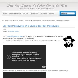 Les Faux-monnayeurs et le Journal des Faux-monnayeurs