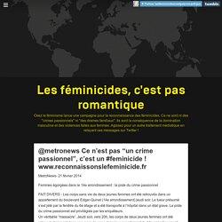 Les féminicides, c'est pas romantique