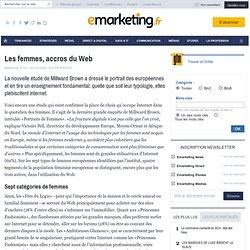Les femmes, accros du Web - Veille - Cible