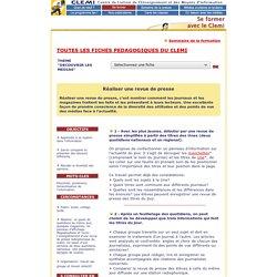Les fiches du Clemi : la revue de presse