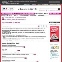 Les fiches métiers de l'Education nationale