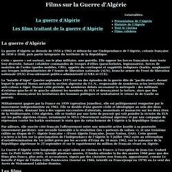 Les films sur la Guerre d'Algérie