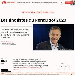 Les finalistes du Renaudot 2020...