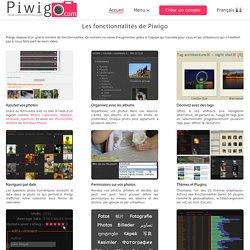 Les fonctionnalités de Piwigo « Piwigo.com