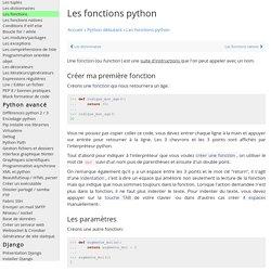 Les fonctions python