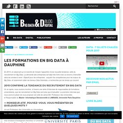 Les formations en Big Data à Dauphine