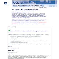 Les Formations de l'IPM