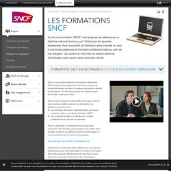 Les formations SNCF – Emploi