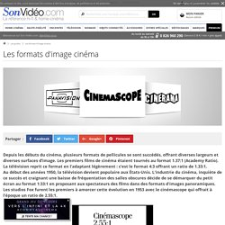 Les formats d'image cinéma sur Son-Vidéo.com