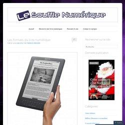 Les formats du livre numérique