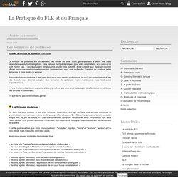 Les formules de politesse - La Pratique du FLE et du Français