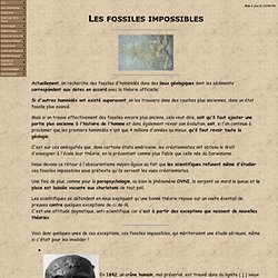 Les fossiles impossibles