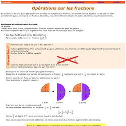 Les fractions : les bases.