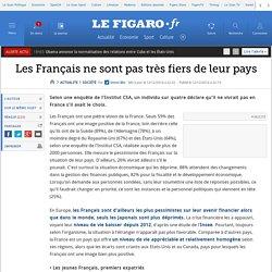 Les Français ne sont pas très fiers de leur pays