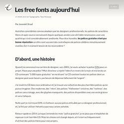 Les free fonts aujourd'hui