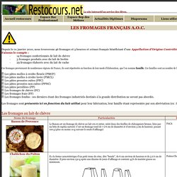 Les fromages français AOP