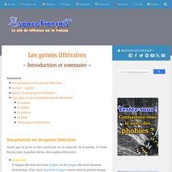 EspaceFrançais.com » Les genres littéraires