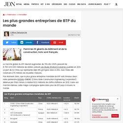 Les plus grandes entreprises de BTP du monde