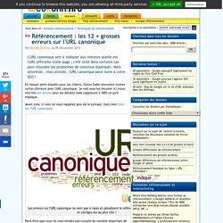 Les 12 + grosses erreurs sur l'URL canonique