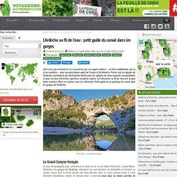 Les grottes de l'Ardèche en canoë