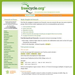 Les Groupes Freecycle en France