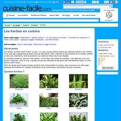 Les herbes en cuisine