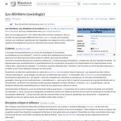 Les Héritiers (sociologie)