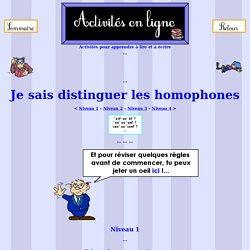 Les homophones