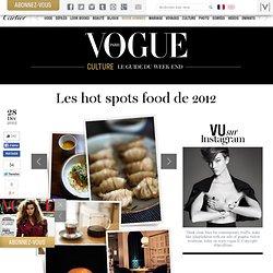 Les hot spots food de 2012