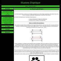 Les illusions géométriques