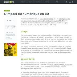 Les impacts du numerique en BD