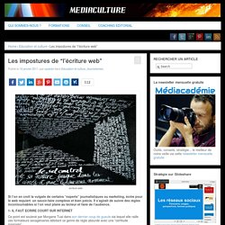 Les impostures de «l'écriture web»
