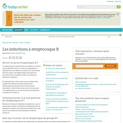 Les infections à streptocoque B
