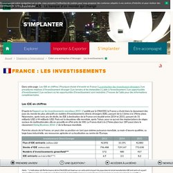 Les investissements en France