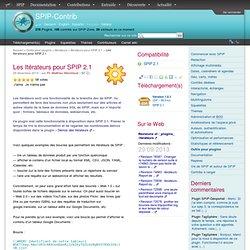 Les Itérateurs pour SPIP 2.1