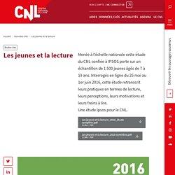 Les jeunes et la lecture (Rapport CNL 2016)