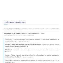 Les jeux psychologiques