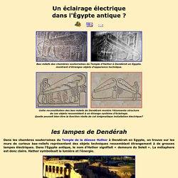 Les lampes de Denderah