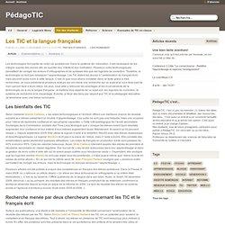 Les TIC et la langue française