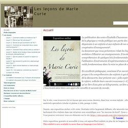 Les leçons de Marie Curie