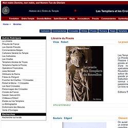 Les Librairies du site de Templiers.net