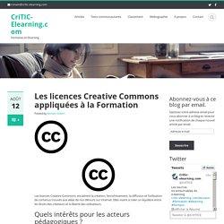 Les licences Creative Commons appliquées à la Formation