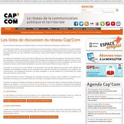 Les listes de discussion du réseau Cap'Com