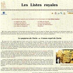 Les Listes royales